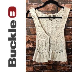 Buckle Crochet Vest